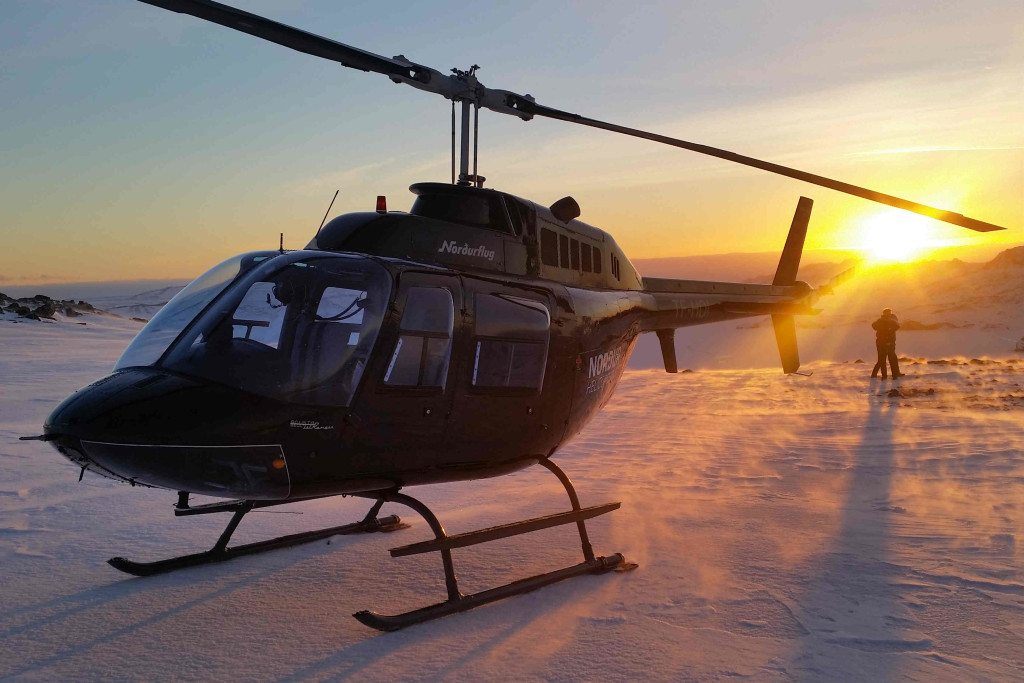 Heli Happy Hour tour in Iceland