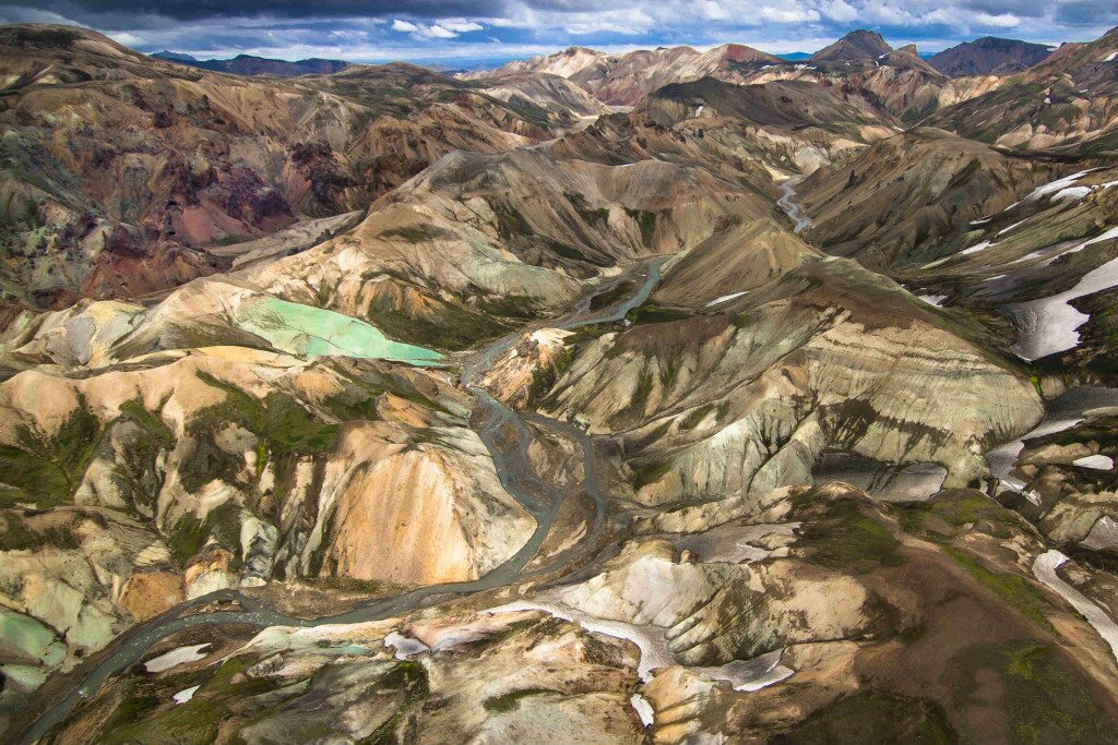 Landmannalaugar helicopter tour in Iceland