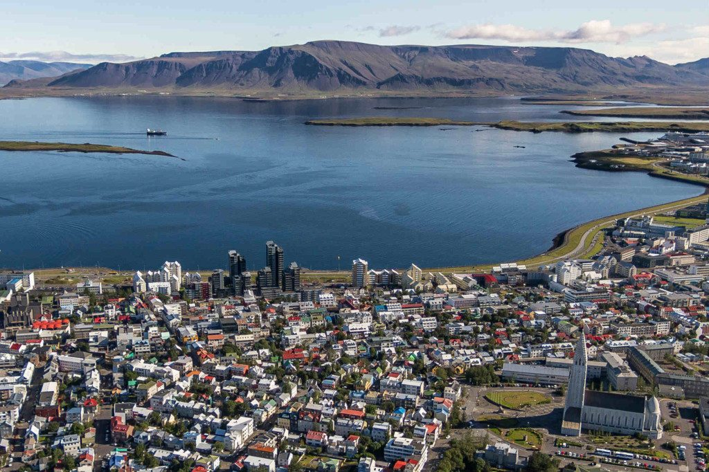Reykjavik by Air helicoter tour in Iceland