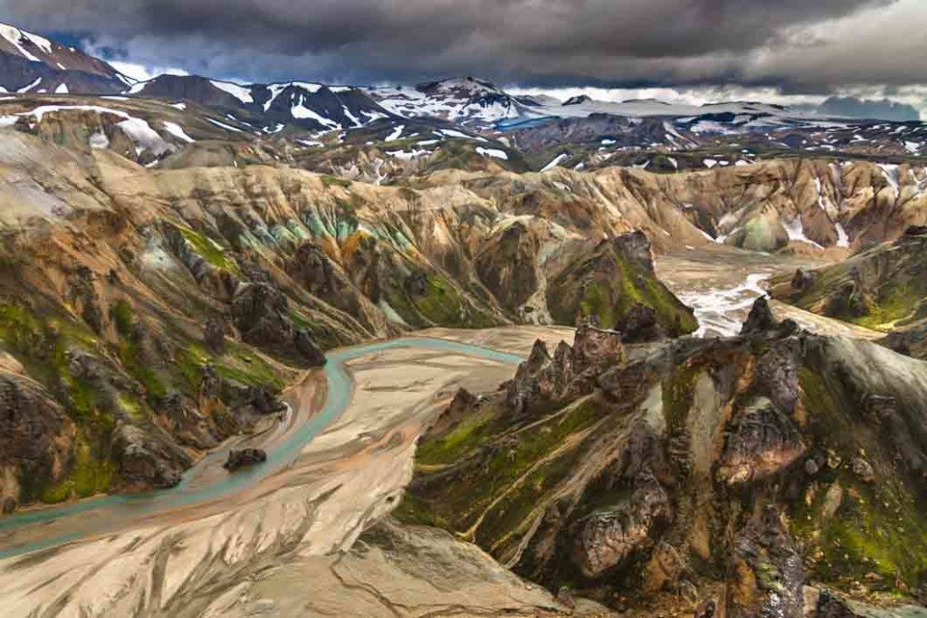 Helicopter tour to Jökulgil canyon in Iceland