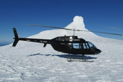 Helicopter tour to Snæfellsjökull glacier in Iceland