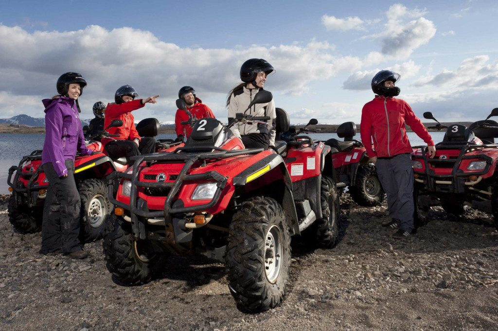 Helicopter and quad biking tour in Iceland