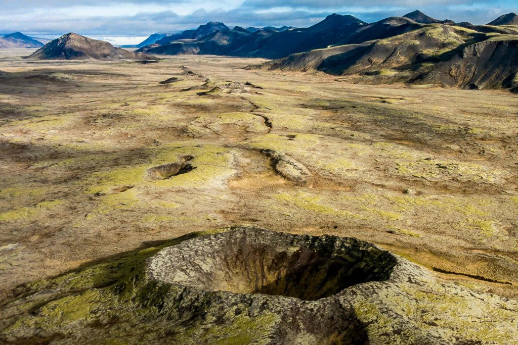 Countless Craters helicopter tour in Iceland