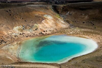 Helicopter tour to Mývatnssveit in Iceland