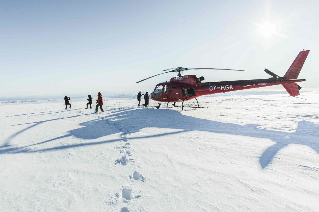 Fire and Ice helicopter tour in Iceland