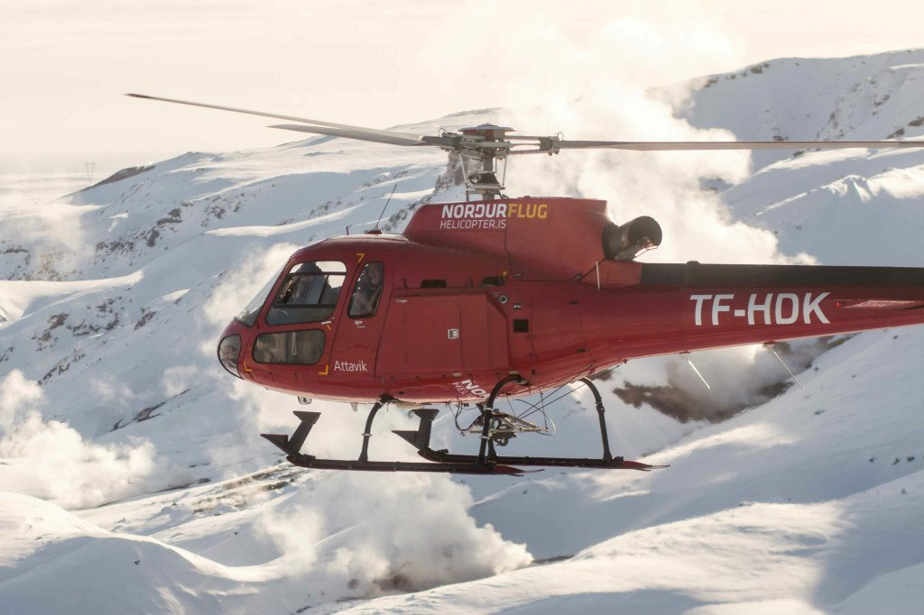 Nordurflug Astar AS350 helicopter in Iceland