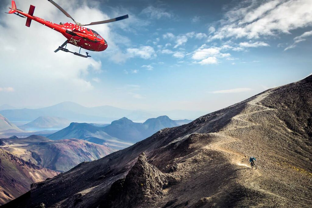 Heli Biking tour in Iceland