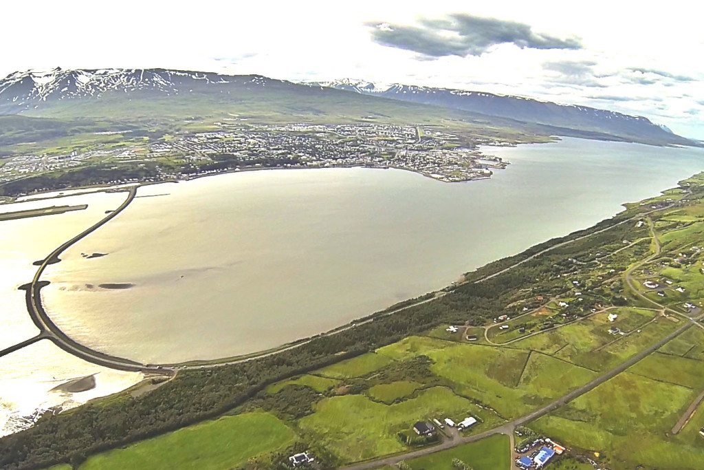 Akureyri city in North Iceland