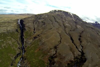 Helicopter tour to Glymur waterfall in Iceland