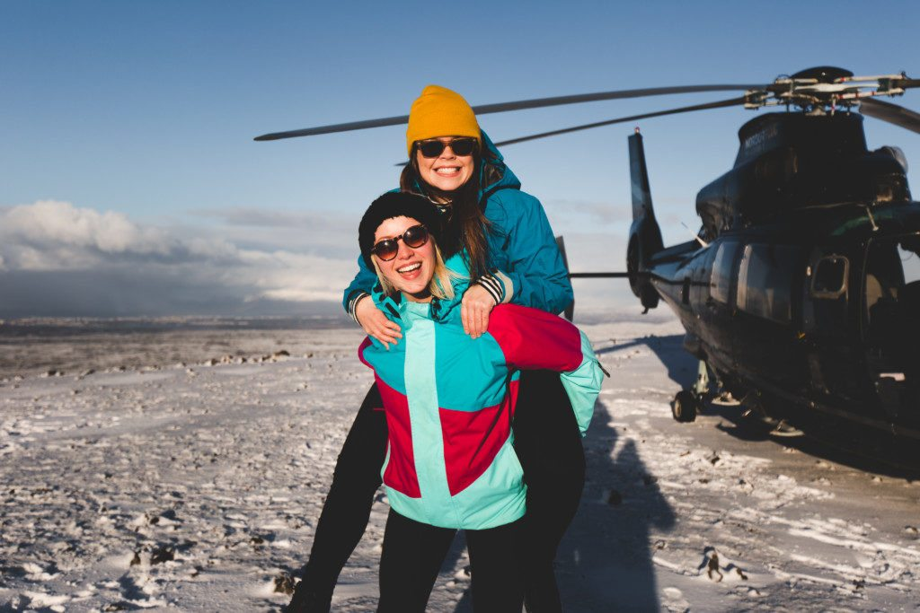 Christmas gift certificate on a helicopter tour